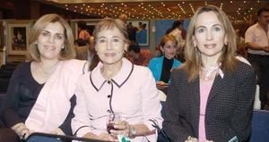 Rosario de Garza, Alicia de Jaime y Carmen de Hermosillo.