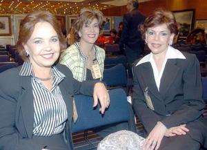<b>16 de noviembre 2005</b><p>  Concha Lupe Valdés, Paty de Arizpe y Tere Quiñones.