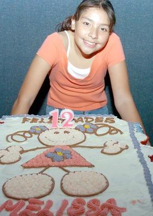 Melissa García Gutiérrez celebró con una divertida fiesta su doceavo cumpleaños, en el cual recibió bonitos regalos.