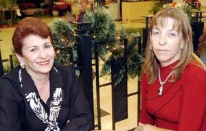Carmen Lucía Martínez Celada y María Teresa Díaz Infante de Ramos.