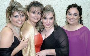 Mayela Romo de Quirarte, Mayela de Romo, Karla de García y Dalia de Campillo.