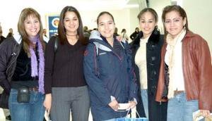 Yazmín Milán, Nayeli Garza, Guadalupe Castañeda y Adriana Palacios viajaron al DF.