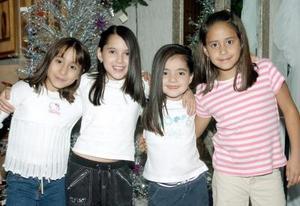 Shery Nevárez, Victoria Issa, Nadia González y Cristy Castro.