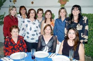 Con motivo de su cercano matrimonio con Mario Raúl Quiroga Fernández, Daniela de Santiago Chávez fue despedida de su vida de soltera, con una amena reunión a los que asistieron muchas invitadas.
