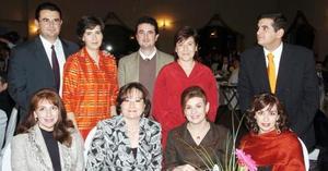 Luis López, Malena de López, Maribel de Murra, Gabriel López, Marlí de López, Alfredo Murra, Anabel de Murra, Nuria F. de Murra y María Isabel Saldaña.
