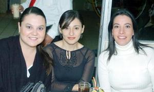 Claudia Villalobos de Pedroza, Ana Villar de Sandoval y Marcela Armendariz de Bustos