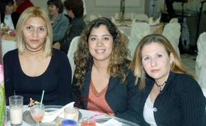 Citali de Miranda, Ana Lilia Ramírez y Karina Parra.