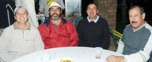 Guillermo Viesca, Sócrates Anchondo, Ramiro Saldaña, Óscar Martos.