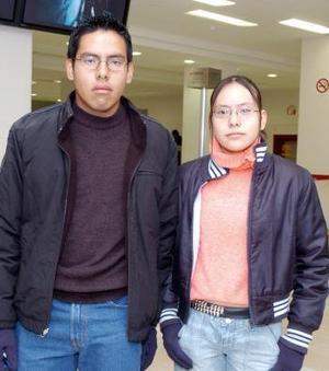 David Quirarte y Ana María Quirarte viajaron a la Ciudad de México.