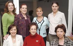 Chela de Román, Rosa María de Granados, Marisa Zavala, Larely de García Peña, Elisa de Morales, Georgina de García, Elba de González.