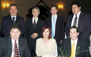 Eduardo Cantú, Jorge Bolaños, Gerardo Solórzano, René Martínez Lazo, Mavisa Garza y Julio Díaz.