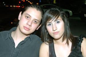 <b>22 noviembre 2005</b><p Marcelo Montes y Monse Rodríguez.