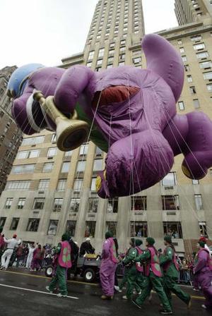 Desfilan globos gigantes en NY