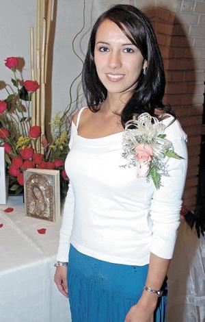 Carolina de la Garza Betancourt captada en una de sus últimas despedidas de soltera, ya que el próximo sábado 26 contraerá nupcias con Gustavo Canales.