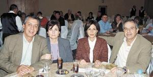 Alfonso Campa Martínez, Matilde García de Campa, Blanca Sabla de Giacomán y Félix Giacomán.