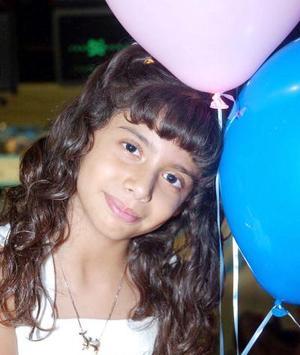 Julieta Contreras Faccuseh, captada en su fiesta de cumpleaños.