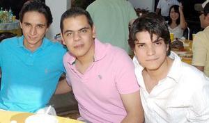 Jorge Abularach, Alfredo Anaya y Diego Saucedo.