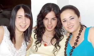 Renata González, Camila Giacomán y Maraca Arratia.