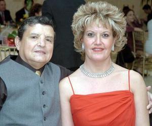José Aranda Alcalá y María Elena Valdés de Aranda.