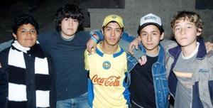 Mario Alejandro Díaz, Rodolfo Éric Grovas, Alfredo Yahír García, Roberto Rodríguez y Arturo Ramírez.
