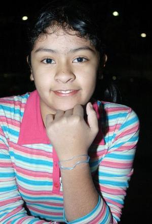 Frida Vanessa Ramírez, captada el día de su convivio