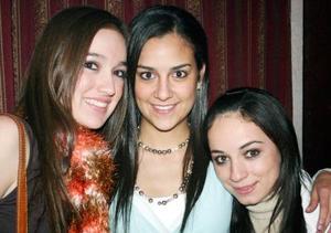 Bárbara Treviño, Naty Garza y Daniela Macías.