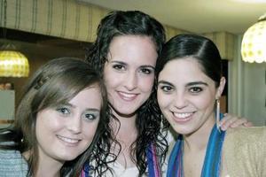 Mariana Webb, Lucía Sáenz y Sory Garza