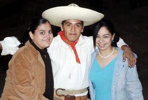 Mariana García, Sergio Durán y Daniela Álvarez.