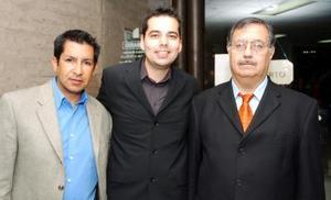Édgar Salinas, Carlos Castañeda y Sergio Corona.