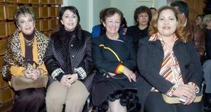 Marisa de Berlanga, Nina de Eraña, Alicia de Fernández y Eva Mejía