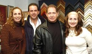 Omar y Liliana Giacomán, Alfredo y Margarita Mafud, en pasado festejo