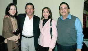 Akemi, Adolfo, Jorge y Lourdes Cepeda.