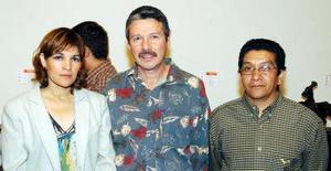 Sonia Zúñiga, Miguel Prado Galán y  José Guadalupe Carlos.