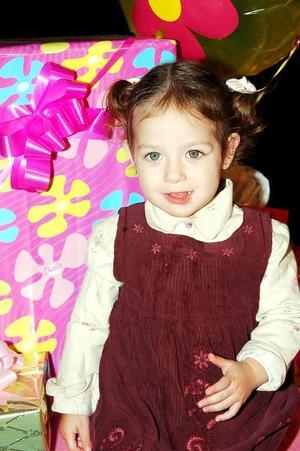 La pequeña Arantza Sofía Echávarri festejó su cumpleaños, con un convivio que se le organizó hace días.