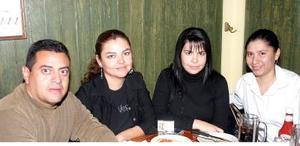 Pascual Hernández, Carmen Lucía Reyes, Adriana de Tijerina y Olga Alameda