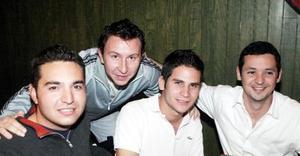 Alejandro Vázquez, Armando Cárdenas, Luis Olhagaray y Alonso de Alba.