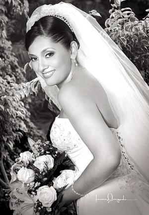 Ing. Cristina Ramos Villa, el día de su enlace matrimonial con el Ig. Roberto Carlos Muro Muñiz