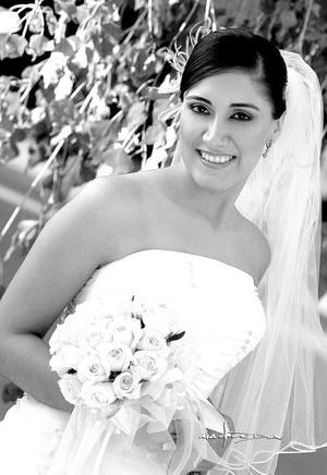 Lic. Lucila Navarrete López, el día de su enlace matrimonial con el Lic. Pablo Rosas González.