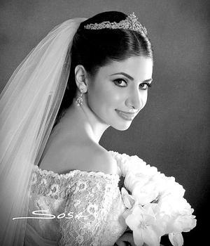 Srita. Laura Batarse Murra, el día de su enlace matrimonial con el Sr. José León Salazar Cuerda..