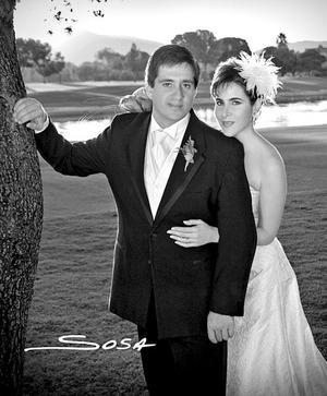Srita. Estrella Franco Sol, el día de su boda con el Sr. Miguel Ángel Villarreal Montero