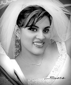 Srita. Cecilia Moreno Alonzo, el día de su enlace nupcial con el Sr. Gerardo Gutiérrez Pereyra.