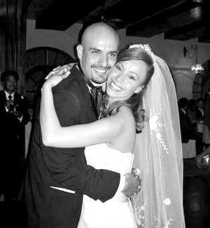 Lic. Gilda Regina Meza Rodríguez, el día de su boda con el Lic. Horacio Ontiveros Ricardez.