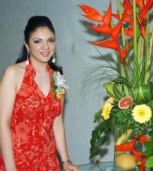 de_04022006  Ana Laura Rodríguez Pérez el día de su despedida de soltera.