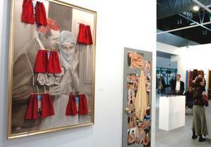 Imagen de una obra de la galería Espacio Mínimo de Madrid, en la Feria Internacional de Arte Contemporáneo.