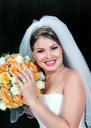 C.P. Eva Lorena González y González, el día de su enlace matrimonial con el Ing. Sergio Román Ochoa Arévalo.