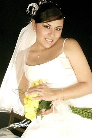 Srita. María Guadalupe García López, el día de su enlace matrimonial con el Sr. Samuel Calderón Caldera. <p><i> Fotografía:  Aldaba</i>