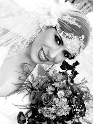 Arq. Liliana Montellano Villarreal, el día de su enlace matrimonial con el Ing. Elier Abel Machado Flores.