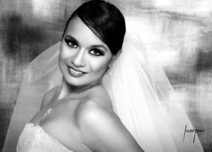Srita. Valeria Correa Rivas el día de su enlace nupcial con el Ing. Octavio DUrán Serna. <p> <i>Fotografía:  Lucero Kanno</i>