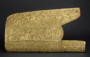 Carcaj de oro, una de las piezas que se pueden contemplar en la exposición El camino hacia Bizancio.
