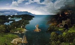 El cuadro El paso de la laguna estigia del paisajista flamenco Joaquim Patinir (c.1495-1524),  forma parte de la primera exposición monográfica sobre la invención del paisaje,  que organiza el Museo del Prado en junio del 2007.